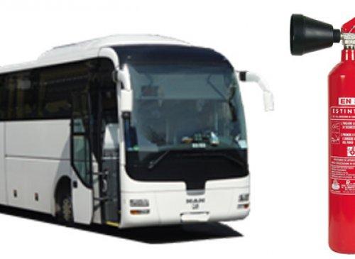 Autobus: non più idonea la dotazione di estintori a polvere