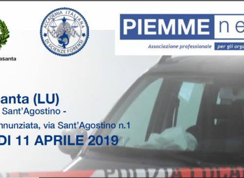 Pietrasanta (LU) - 11.04.2019 - Il teatro del sinistro stradale mortale: i rilievi tecnici e il linguaggio della scena del crimine